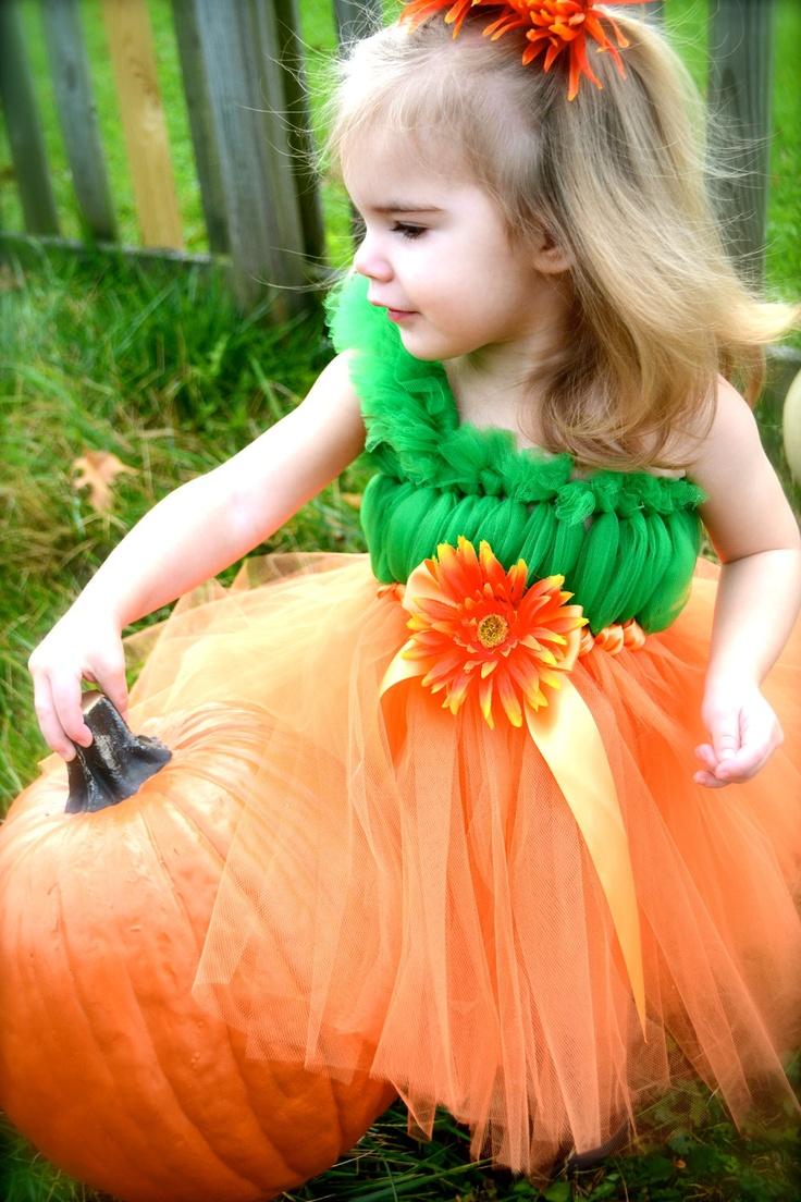 Pumpkin Tutu Dress.