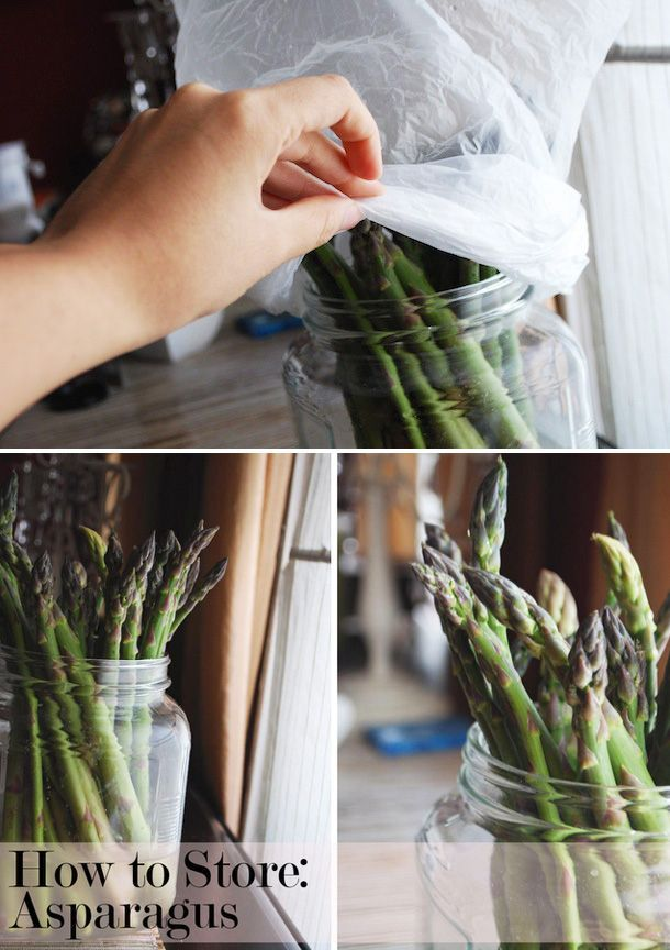 Store asparagus like cut flowers. | 27 Ways To Make Your Groceries Last As Long As Possible
