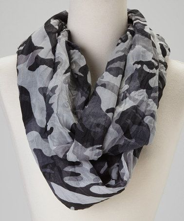 Take a look at this Black & Gray Camo Scarf by Blue Pacific Fashion on #zulily today!