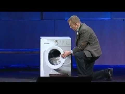 "Hans Rosling and the magic washing machine (2010)  Human rights and the ""wash line""."