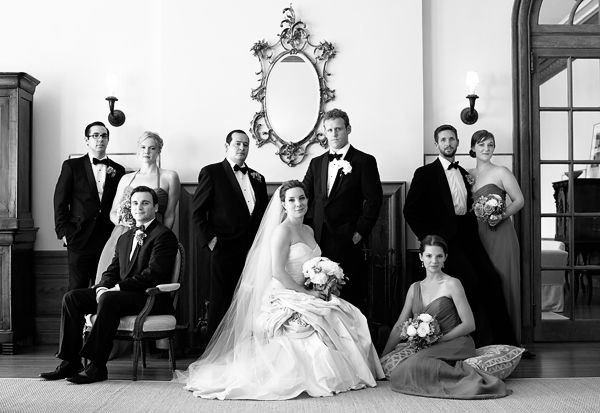 Rhinebeck NY Wedding: Alexis & Ross - Justin & Mary - Photography  Beautiful group posing