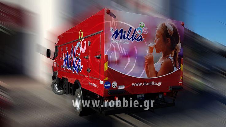 Milka / Σήμανση οχημάτων // #Μερική_Κάλυψη #Σήμανση_Οχημάτων #Στόλοι_Εταιρειών #Ψηφιακές_Εκτυπώσεις #robbieadv