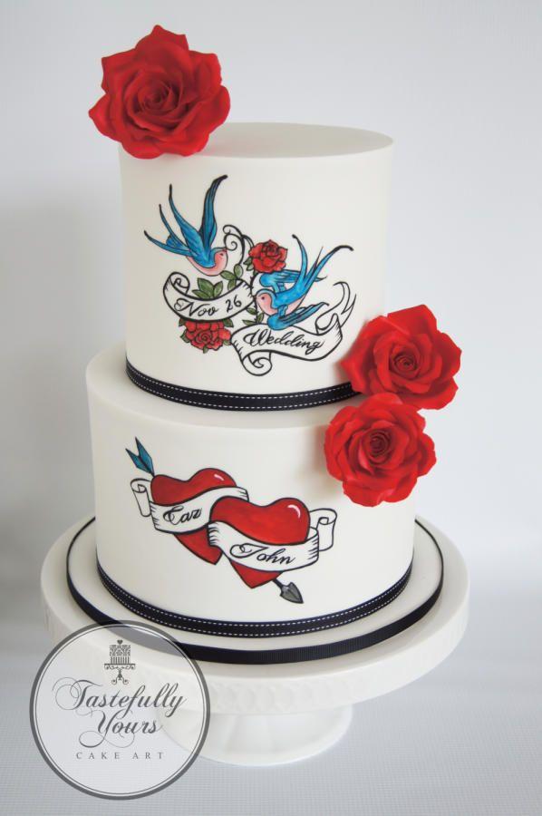 Rockabilly Wedding by Marianne: Tastefully Yours Cake Art  - http://cakesdecor.com/cakes/266779-rockabilly-wedding