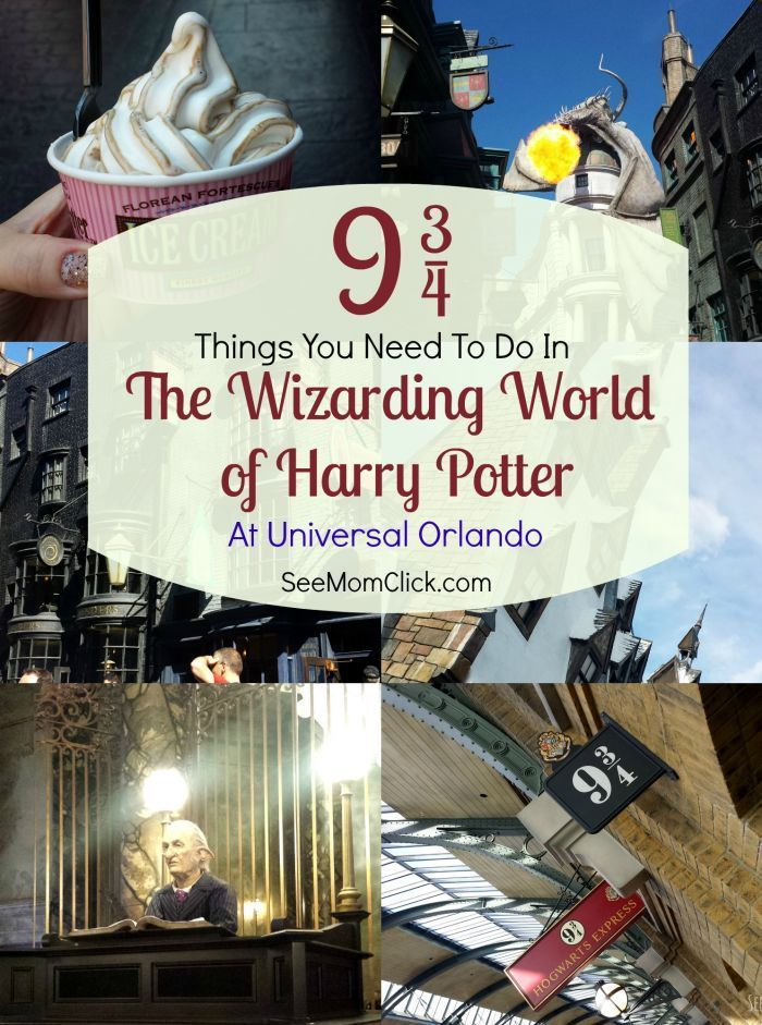 Here are my Top 9 3/4 Things You Need to Do at The Wizarding World of Harry Potter at Universal Orlando! (9 3/4...get it?!) There is so much to see. Movie fans will LOVE these attractions at a fantastic family travel destination.