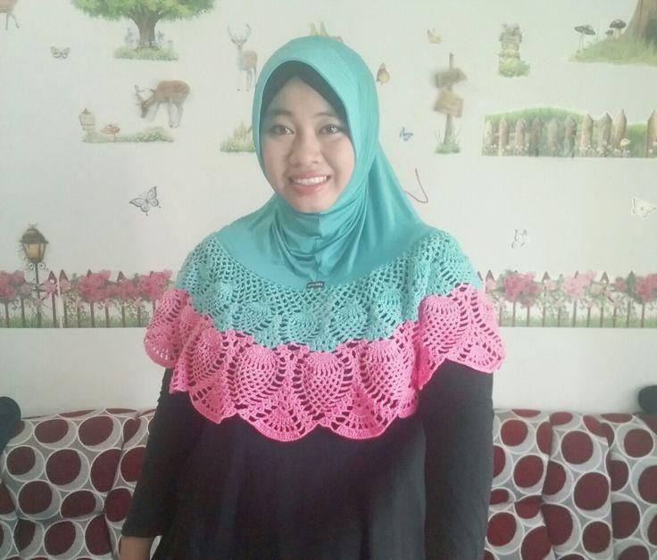 Crochet.. hijab crochet.. handmade.. moslem hijab crochet