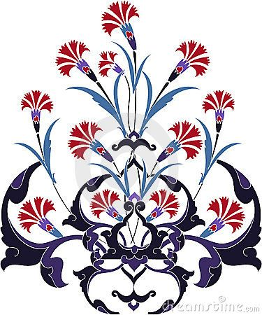 Traditional ottoman turkey turkish tulip design by Murat Cokeker, via Dreamstime