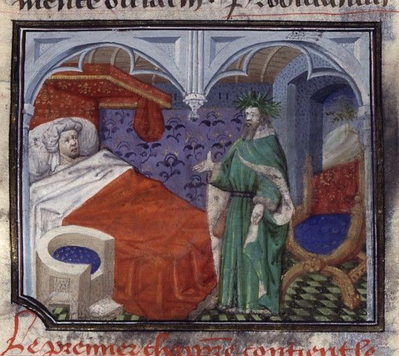 boccaccio and petrarch de casibus bnf fr first half of the century a chair with nice upholstery and odd perspective