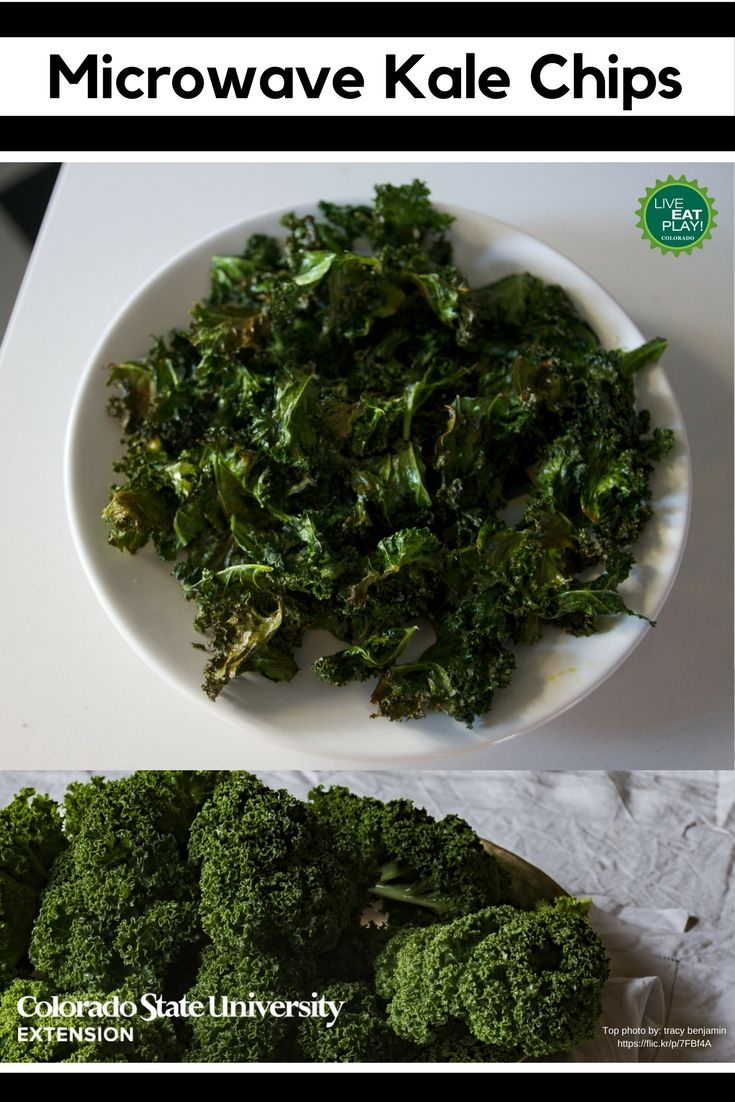 Need a crunchy, healthy snack for the week? Try making microwave kale chips! Find the recipe on our website.