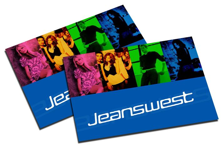jeanswest product catalogue cover page design