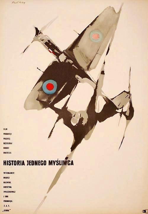 the 1958 poster for Story of One Fighter (Hubert Drapella, Poland, 1958).