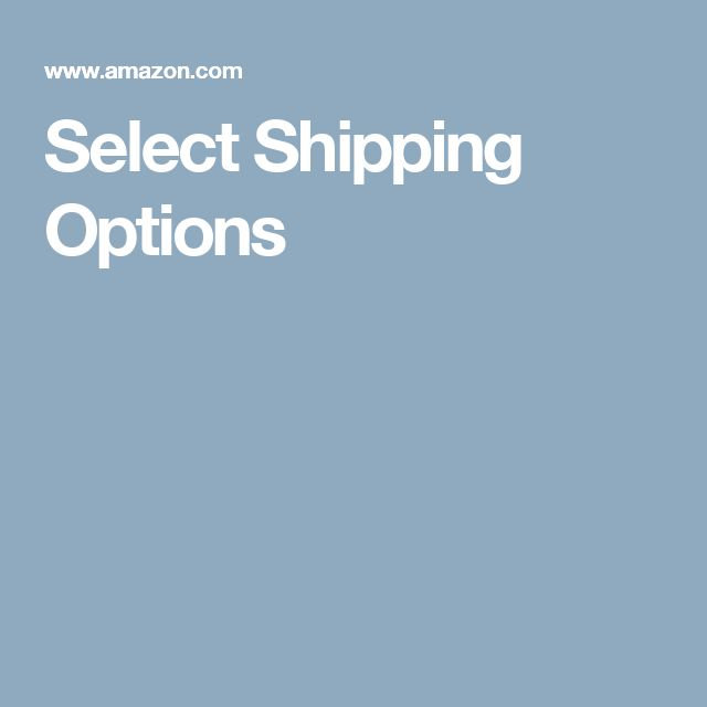 select shipping options