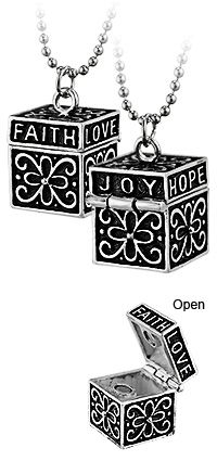 Prayer Box Necklace at The Animal Rescue Site Special Value! Was $12.95, now $8.00!
