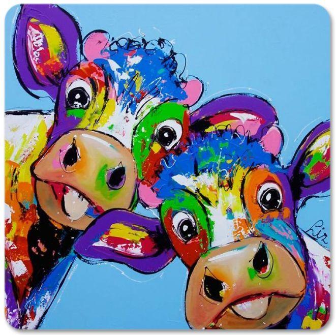 Vrolijk Schilderij Onderzetters Koeien