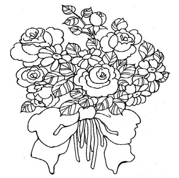 "... Bouquet | iColor ""Love"" | Pinterest | Wedding, Nosegay and Coloring Wedding Bouquet Coloring Pages"