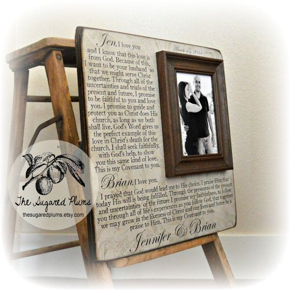 Wedding Vows Framed Wedding Vows Unique Wedding by thesugaredplums. Love this idea for a wedding gift!!