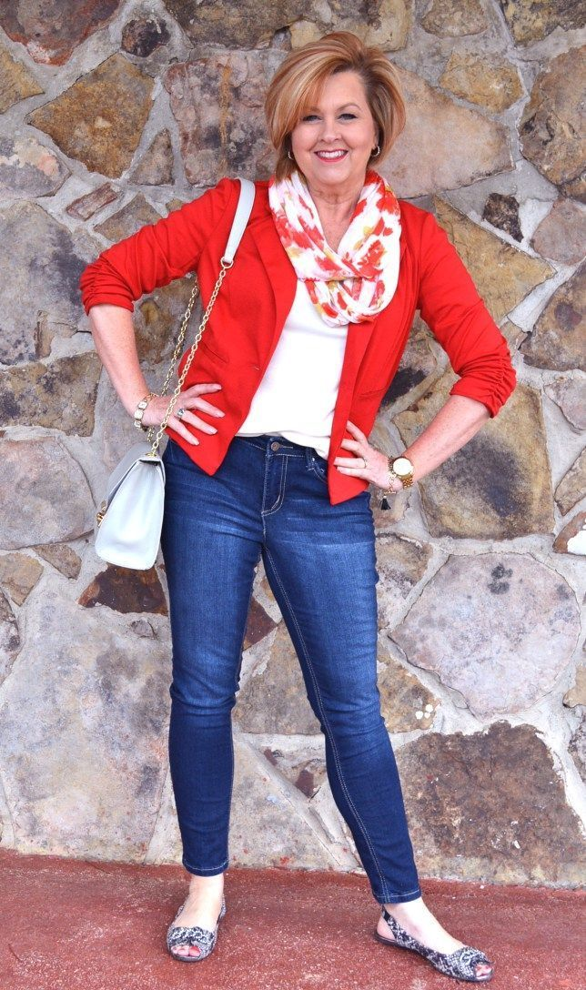 50 Is Not Old | Wall Daddy Built | Poppy | Red + Jeans | Fashion over 40 for the everyday woman #fashionover50womenfiftynotfrumpy #FashionOver40