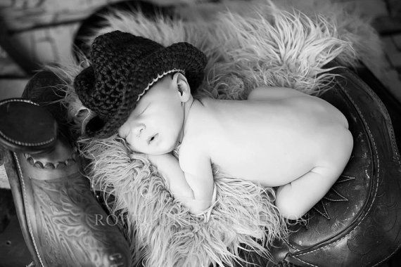 Newborn boy hat and saddle picture.  I want matching crotchet booties too.