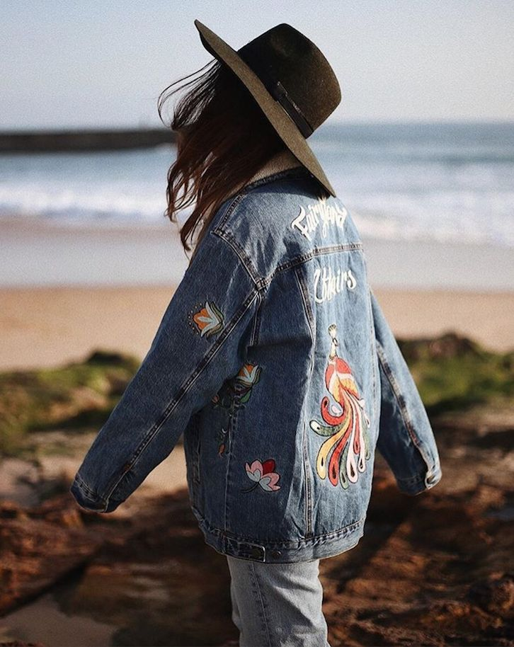 Pairing hats with denim jackets