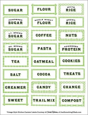 Love these printable kitchen labels...