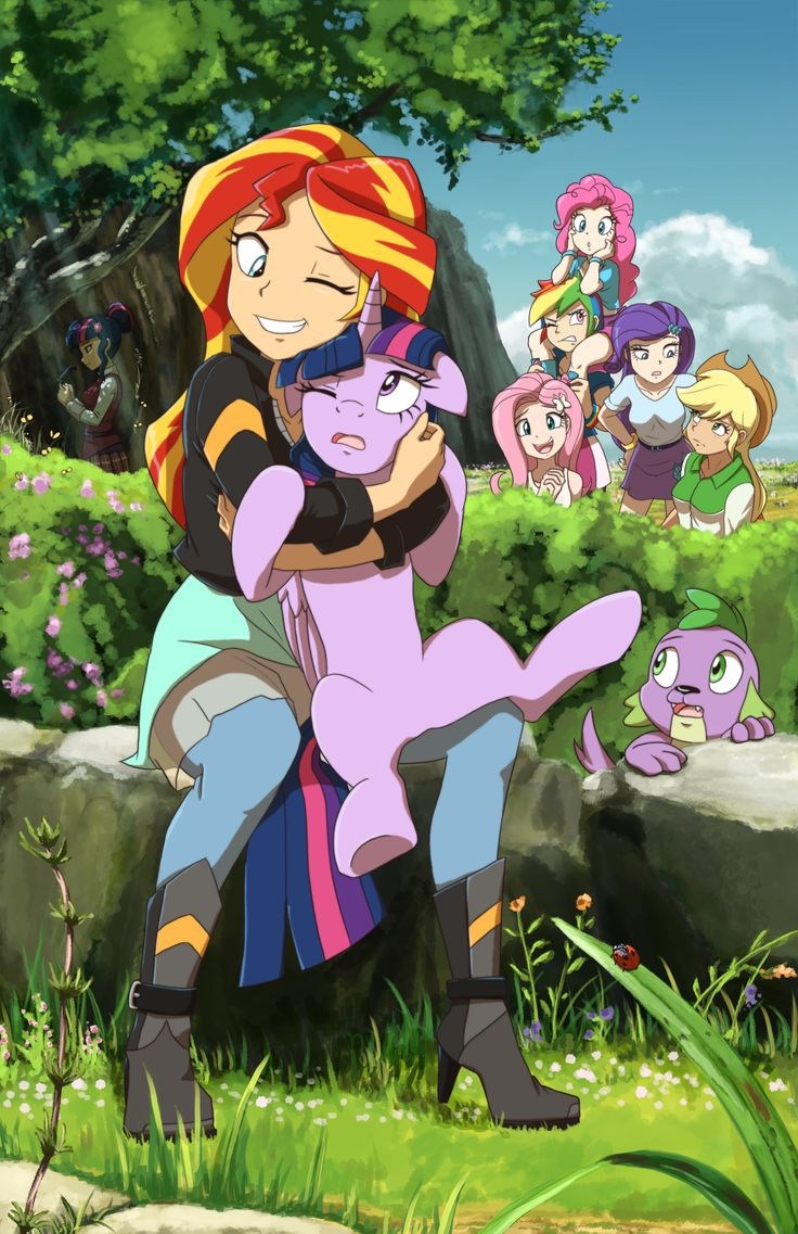 Sunset loves Pony Twilight by DeannART