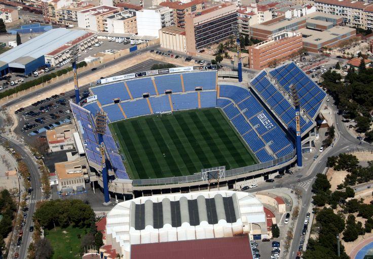 Estadio Rico Pérez del Hércules CF de Alicante. Equipo de la Segunda división del fútbol español