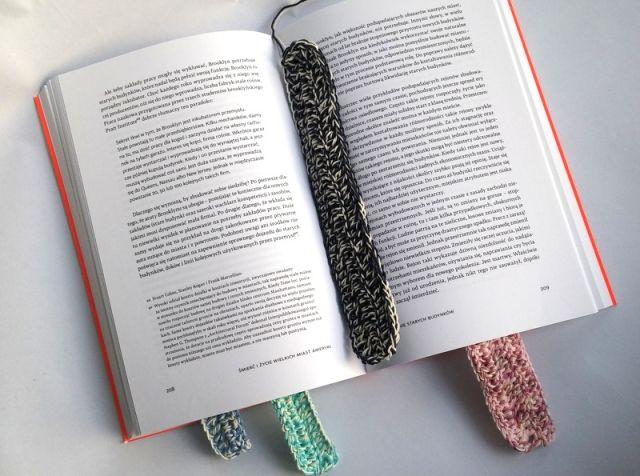 Szydełkowa zakładka do książki Crochet bookmark https://www.facebook.com/oplotki/