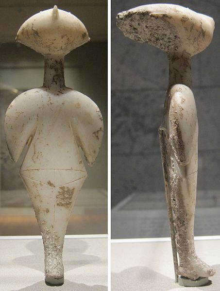 "Marble statuette of a woman (""The Stargazer""), c. 3000 BCE, early bronze age, Western Anatolia?, Cleveland Museum of Art"