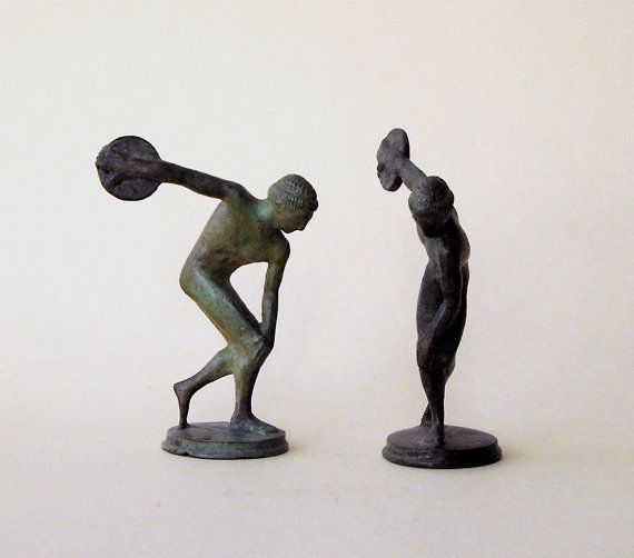 Discus Thrower Sculpture Bronze Greek Athlete by GreekMythos