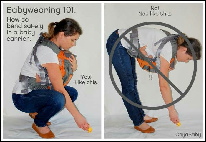 Babywearing 101: How to bend safely