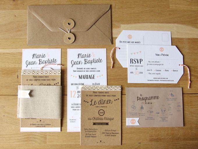 Faire-part de mariage sur mesure Rétro Graphique Save-the-Date