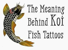 Koi Fish Tattoo Meaning—Color, Direction, and More  Struggles will always be a part of my life