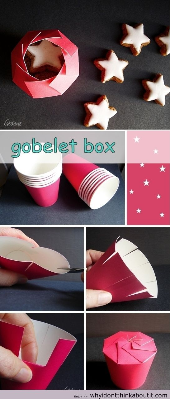 DIY Carton to place your holiday cookie give aways