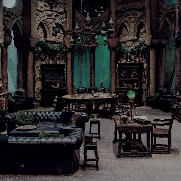 Absolutly to die for The Slytherin Common Room from the set of Harry Potter film series  wow