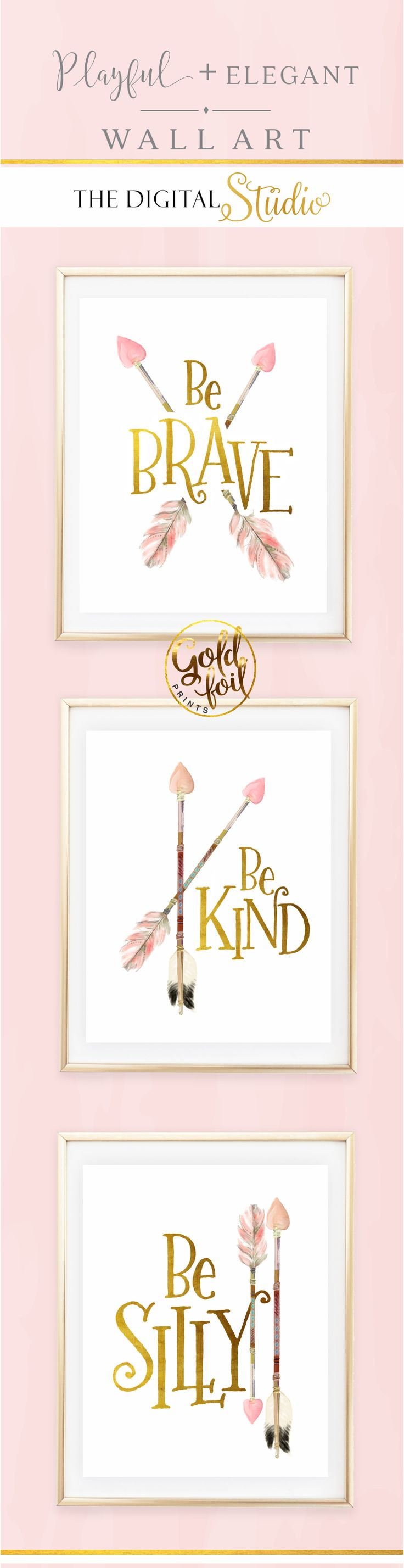 Baby Girl Nursery Wall Decor  Set of 3 Pink and Gold Wall Art  Little. Best 25  Girls bedroom ideas on Pinterest   Kids bedroom ideas for