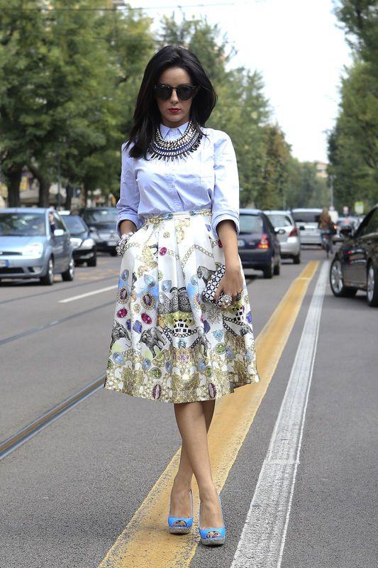 Moda stretowa: spódnice, Mediolan / fot. Imaxtree