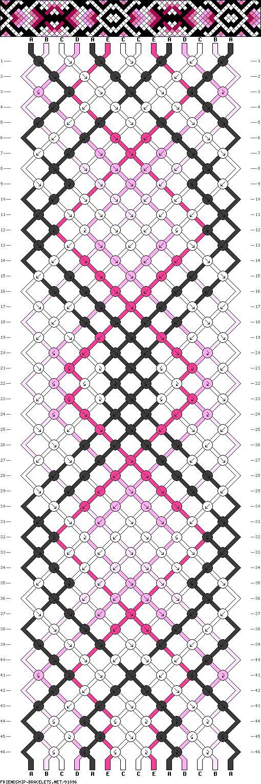 Muster # 91896, Streicher: 14 Zeilen: 46 Farben: 5