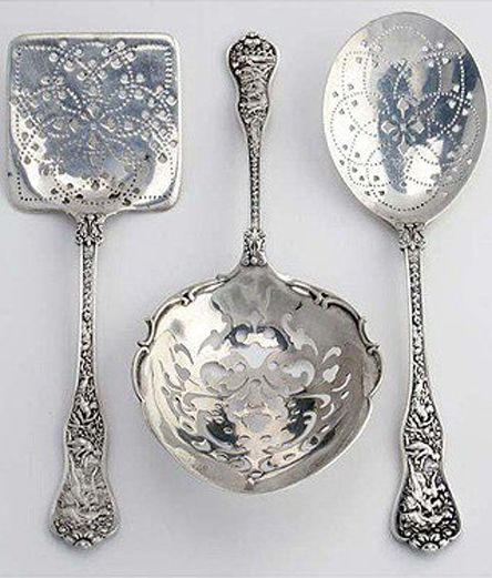 I collect unusual serving pieces that had one job only, like a pickle fork or a fish fork, grape shears. These are beautiful!