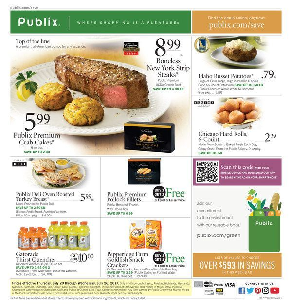 Publix Weekly Ad Jul 26 - Aug 1 United States #food savings #Publix circular