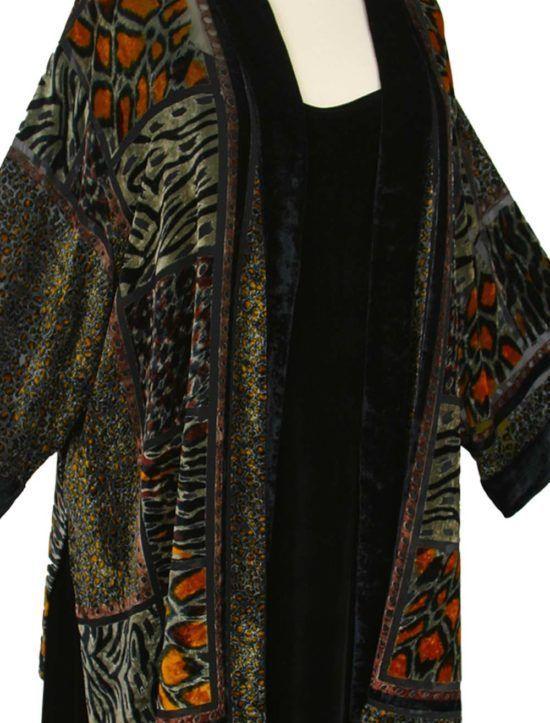58cb604c447 Plus Size Mother of Bride Kimono Jacket Silk Velvet Burnout Animalskins SHOP  NOW  Unique jackets for women Sizes 14 - 36