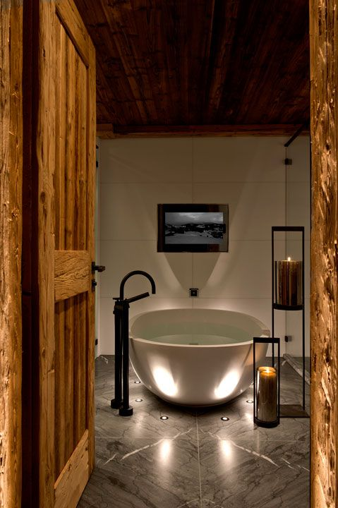 Panorama Suite at The Alpina Gstaad, Switzerland, designed by HBA/Hirsch Bedner Associates
