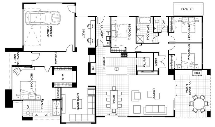 10 best housesplans images on pinterest house design blueprints the warrington is the perfect fusion between contemporary design style and functionality malvernweather Choice Image