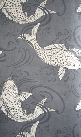 3385 best images about textile wallpaper on pinterest for Koi wallpaper for walls