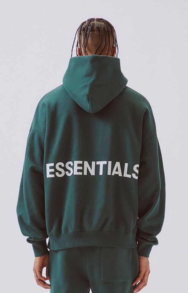Fog Pacsun Fear Of God Essentials Pullover Hoodie Green Sz S Hoodies Pullover Hoodie God Clothing