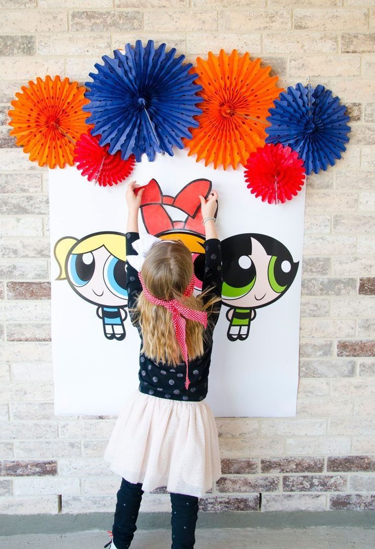 Powerpuff Girls Games Free Download: Pin The Bow on The Powerpuff Girl