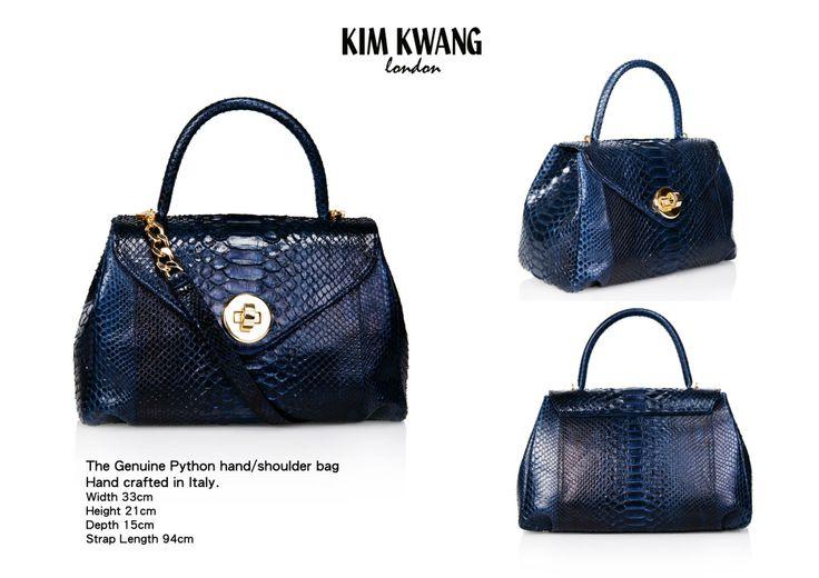 KIM KWANG Handbag   The Genuine Python Hand/shoulder bag   Hand crafted in Italy.