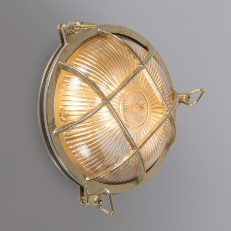 Wall/Ceiling Lamp Nautica Round Brass