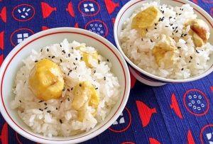 楽天が運営する楽天レシピ。ユーザーさんが投稿した「炊飯器☆簡単!栗おこわ」のレシピページです。【超簡単】秋になるとホクホクの栗とモチモチのもち米の栗おこわ、食べたくなりますよね。炊飯器に材料を入れて炊くだけです。。剥き栗,レシピID: 1210005410参考に,もち米,★塩,★酒,★みりん,昆布,ごま塩