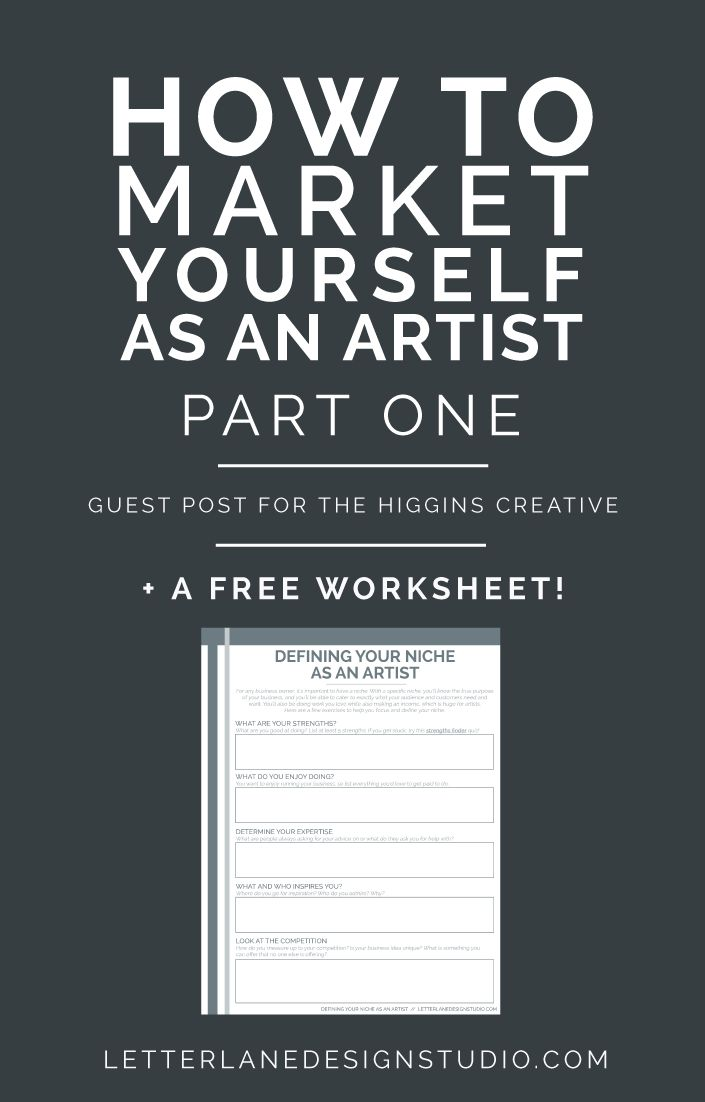 How to Market Yourself as an Artist | PART ONE - Wondering how to get your name out there as a new artist? Look no further! I'm sharing some tips I have for defining your niche, reaching your audience, and how to make money with your art! I've also included a free worksheet on defining your niche - click through to read the full post and download the worksheet!