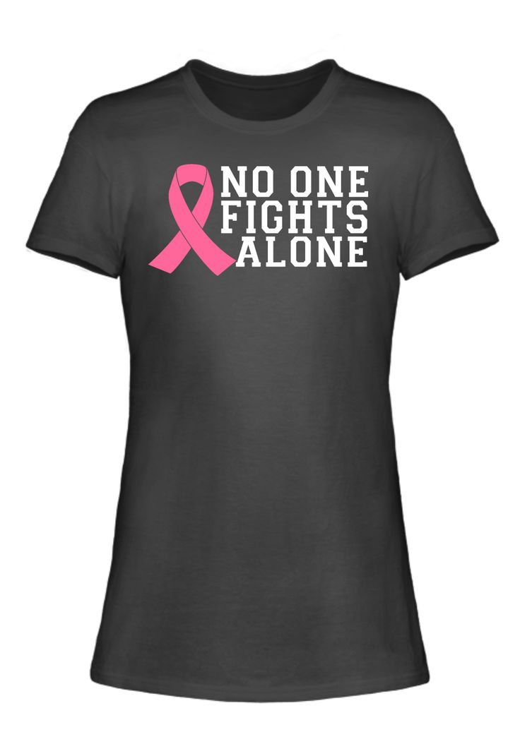 Shirt design editor free download - No One Fights Alone Breast Cancer Awareness T Shirt