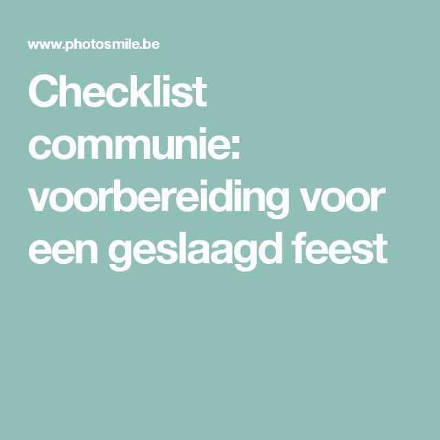 Checklist communie: voorbereiding voor een geslaagd feest